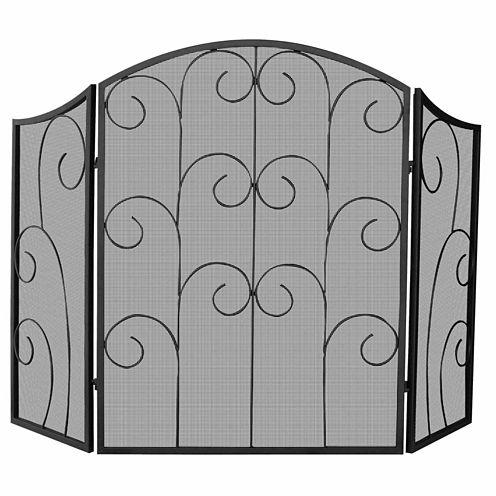 Blue Rhino 3 Panel Wrought Iron Fireplace Screen