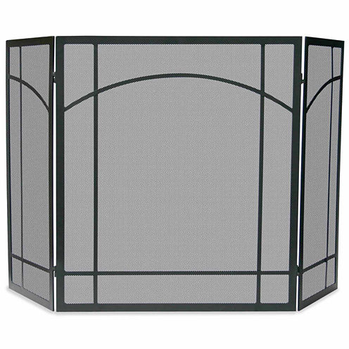 Blue Rhino 3 Fold Wrought Iron Mission Fireplace Screen