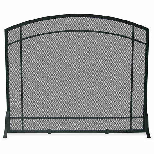 Blue Rhino Single Panel Wrought Iron Mission Fireplace Screen