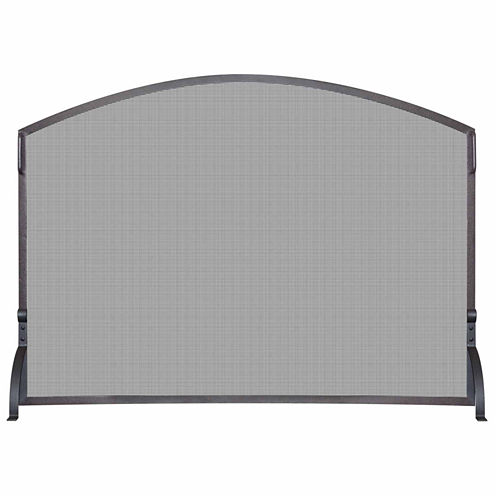 Blue Rhino Single Panel Wrought Iron Arch Fireplace Screen
