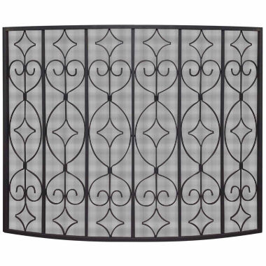 jcpenney.com | Blue Rhino Single Panel Wrought Curved Fireplace Screen