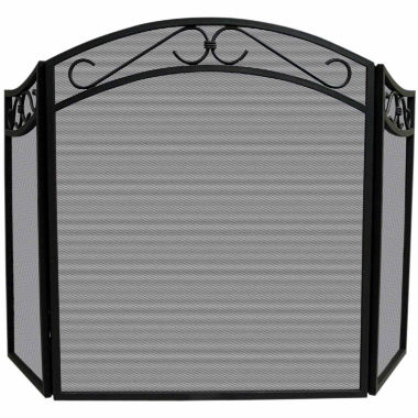 jcpenney.com | Blue Rhino 3 Fold Wrought Iron Arch Top Fireplace Screen