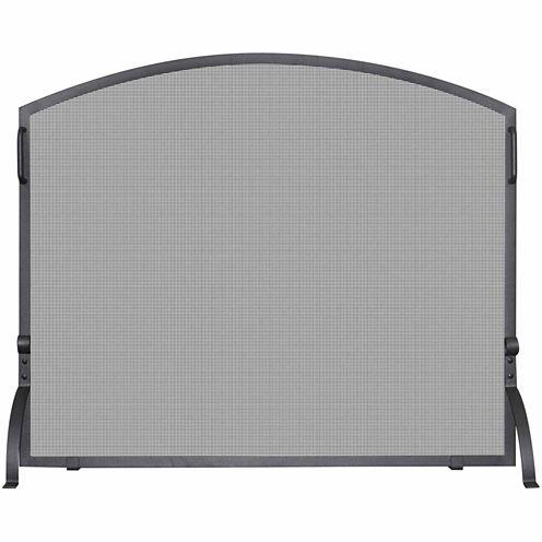 Blue Rhino Single Panel Olde World Iron Arch Fireplace Screen