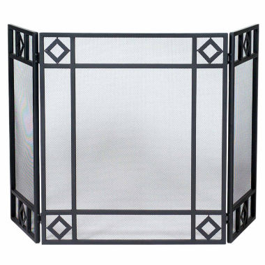 jcpenney.com | Blue Rhino 3 Fold Wrought Iron Fireplace Screen