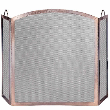 jcpenney.com | Blue Rhino 3 Panel Antique Copper Fireplace Screen