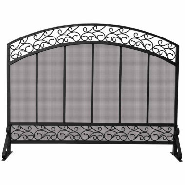 jcpenney.com | Blue Rhino Single Panel Copper Trim Fireplace Screen