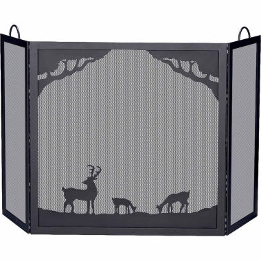 jcpenney.com | Blue Rhino Deluxe 3 Panel Wrought Iron Fireplace Screen