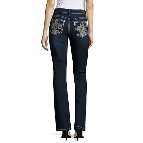 Love Indigo Fleur Des Lis Pocket Bootcut Jeans