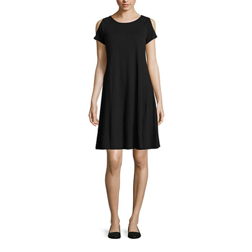 Stylus Short Sleeve A-Line Dress