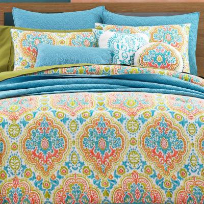 Queen Street Juniper Floral Midweight Comforter Set