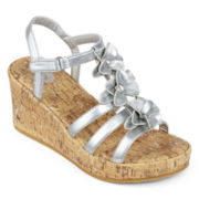 Total Girl® Sierra Girls Wedge Sandals - Little Kids/Big Kids
