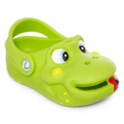 Polliwalks  Green Frog Clogs - Toddler