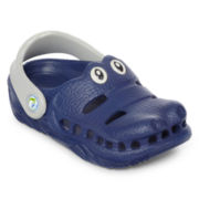 Polliwalks™  Boys Blue Crocodile Clogs - Toddler