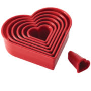 Cake Boss™ Decorating Tools 7-pc. Nylon Heart Fondant and Cookie Cutter Set