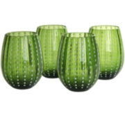 Artland Cambria Set of 4 Stemless Glass Tumblers