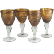 Shimmer Set of 4 Wine Glass Goblets