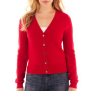 Liz Claiborne Long-Sleeve Basketweave Cardigan Sweater - Tall