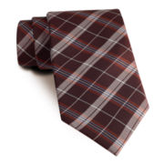 Stafford® Prestigious Plaid Slim Tie
