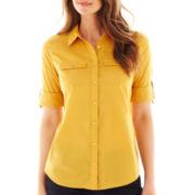 St. John's Bay® Roll-Sleeve Campshirt
