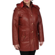 Excelled Leather Nappa Hooded Anorak