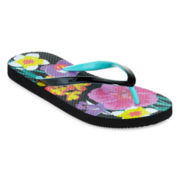 Mixit™ Tropical-Print Flip Flops