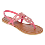 Studded Cutout Shield Sandals