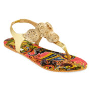 Mixit™ Hammered Disc Shield Sandals