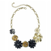 Mixit™ Black & Gold Flower Necklace