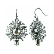 Mixit™ Dark Gray Sunburst Drop Earrings