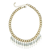 Mixit™ Simulated Pearl & Rhinestone Statement Necklace