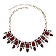 Mixit™ Red Stone & Crystal Teardrop Statement Necklace
