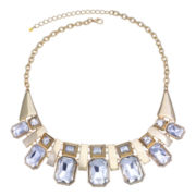 Mixit™ Gold-Tone Faceted Crystal Bib Necklace