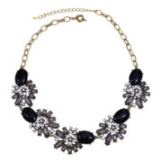 Mixit™ Black Stone & Crystal Statement Necklace