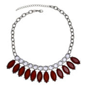 Mixit™ Red Stone & Crystal Shaky Necklace