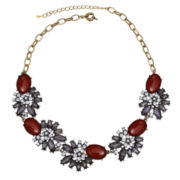 Mixit™ Red Stone & Floral Crystal Statement Necklace