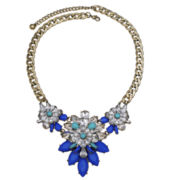 Mixit™ Blue & Green Stone & Crystal Statement Necklace