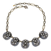 Mixit™ Black Stone & Crystal Abstract Necklace