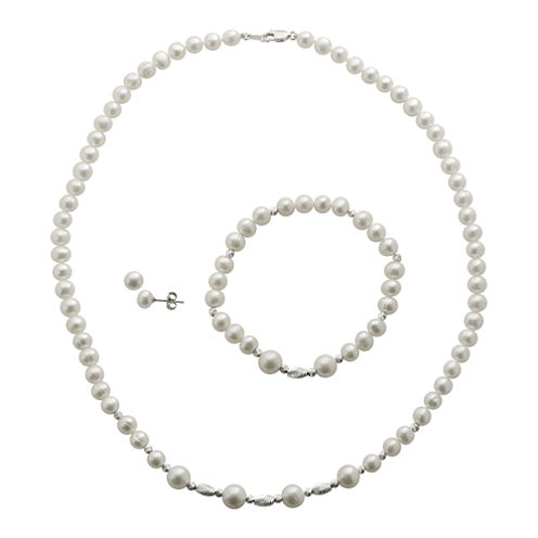 Cultured Freshwater Pearl 3-pc. Jewelry Set