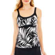 Jamaica Bay® Framed Peasant Tankini Swim Top
