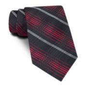 Claiborne® Tonal Plaid Tie
