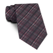 Claiborne® Textured Plaid Tie