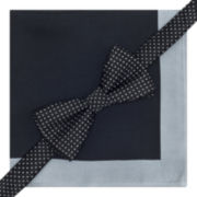 Stafford® Pre-Tied Dotted Bow Tie & Pocket Square Set