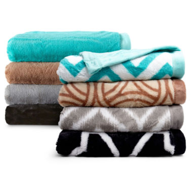 jcpenney.com | Scene Weaver™ Divine Verve Fleece Throw