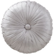 Marquis by Waterford® Samantha Platinum Round Decorative Pillow
