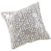 Marquis by Waterford® Samantha Platinum Square Decorative Pillow