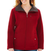 St. John's Bay® Faux-Silk Quilted Jacket - Plus