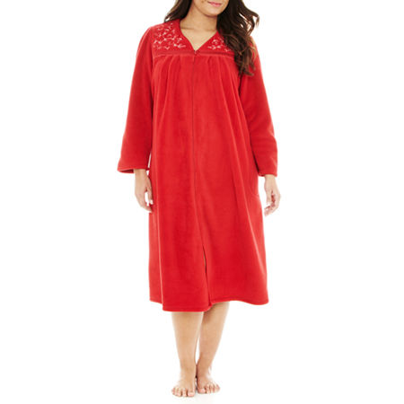 Earth Angels Zip-Front Long Robe - Plus
