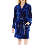 Liz Claiborne® Long-Sleeve Plush Wrap Robe