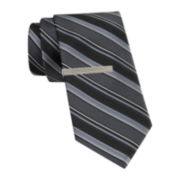 Van Heusen® Textured Stripe Slim Tie