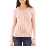 Arizona Bow-Back Cable Knit Sweater